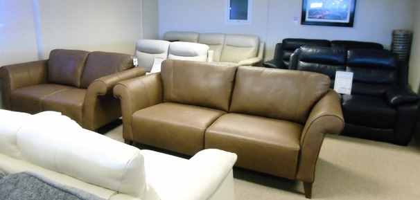 Palermo 3 seater and 2 seater sand £1799 (CARDIFF SUPERSTORE)