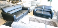 San Remo 3 seater and 2 seater black £1399 (CARDIFF SUPERSTORE) - Click for more details