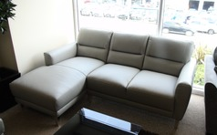 San Remo chaise sofa grey £1199 (CARDIFF SUPERSTORE) - Click for more details