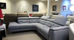Toulon corner suite grey £1699 (CARDIFF SUPERSTORE) - Click for more details