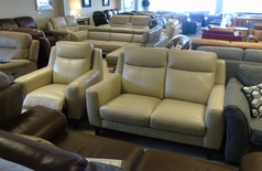 Newbury 2 seater and electric chair beige £999 (CARDIFF SUPERSTORE) - Click for more details