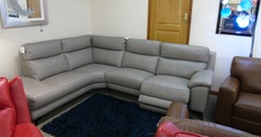 Narbonne electric recliner corner suite grey  £2599 (SWANSEA  SUPERSTORE) - Click for more details