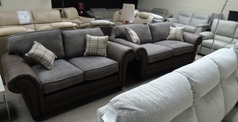 Darwin 3 seater and 2 seater dark taupe £999 (SWANSEA SUPERSTORE) - Click for more details