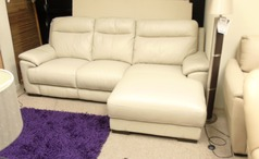 Paris chaise sofa £799  stone grey (SWANSEA SUPERSTORE) - Click for more details