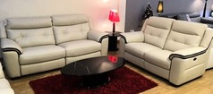 Miami 3 seater and 2 seater bisque £2099 (SWANSEA SUPERSTORE) - Click for more details