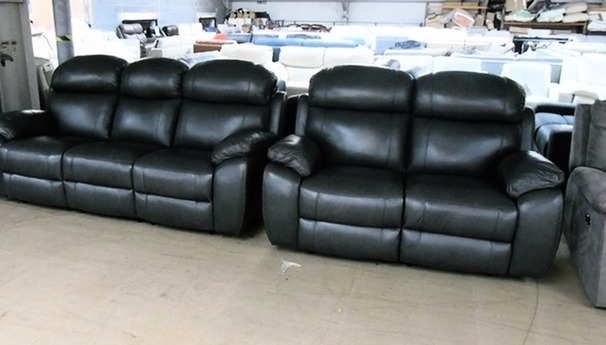 Barcelona 3 seater and 2 seater anthracite £1799 (SWANSEA SUPERSTORE)