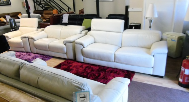 Limoge 3 seater, 2 seater and chair cream £2999 (SWANSEA SUPERSTORE)