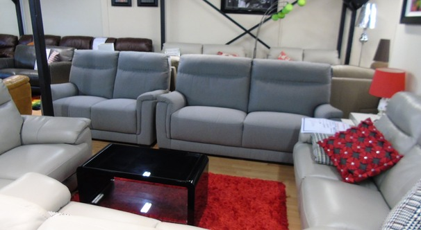 Granada 3 seater and 2 seater grey £1299 (SWANSEA SUPERSTORE)