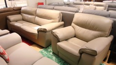 Napa 3 seater and 1 chair cream £1499 (SWANSEA SUPERSTORE) - Click for more details