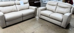 Grenoble electric recliner 3 seater and 2 seater sofa beige £1499 (SWANSEA SUPERSTORE) - Click for more details