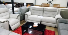 Miami electric recliner 3 seater and 1 electric recliner chair bisque £999 (SWANSEA SUPERSTORE) - Click for more details