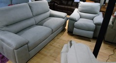 Provence 3 seater and 1 electric recliner chair £1199 dove  grey 1199 (SWANSEA SUPERSTORE) - Click for more details