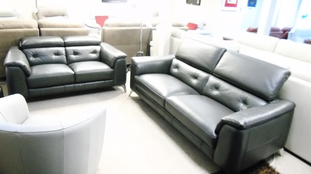 Toulon 3 seater and 2 seater slate grey £2499 (CARDIFF SUPERSTORE)