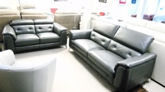 Toulon 3 seater and 2 seater slate grey £2499 (CARDIFF SUPERSTORE) - Click for more details