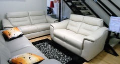 Luxembourg 3 seater and 2 seater biscuit £1799 (SWANSEA SUPERSTORE) - Click for more details