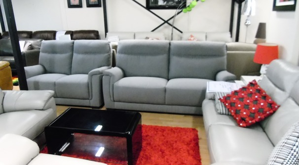 Granada 3 seater and 2 seater grey £999 (SWANSEA SUPERSTORE)