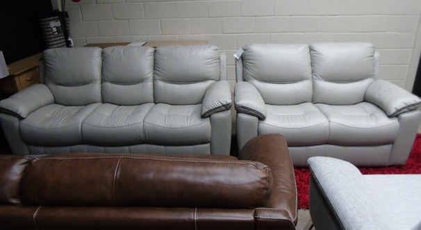 Lille 3 seater and 2 seater grey £1299 (SWANSEA SUPERSTORE)
