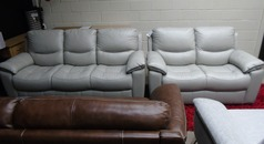Lille 3 seater and 2 seater grey £1299 (SWANSEA SUPERSTORE) - Click for more details