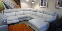 Orleans electric recliner chaise sofa frost £2499 (SWANSEA SUPERSTORE) - Click for more details