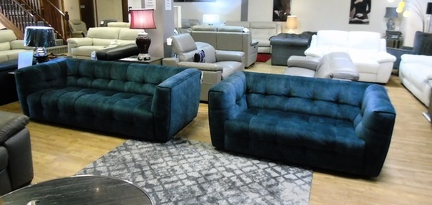 London 3 seater and 2 seater blue £1399 (SWANSEA SUPERSTORE)