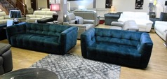 London 3 seater and 2 seater blue £1399 (SWANSEA SUPERSTORE) - Click for more details