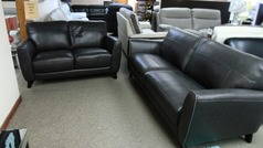 RENO  3 seater and 2 seater  dark grey £999 (SWANSEA SUPERSTORE) - Click for more details