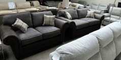 Darwin 3 seater and 2 seater dark taupe £899 (SWANSEA SUPERSTORE) - Click for more details