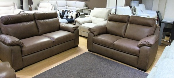 LATINA 3 seater and 2 seater sand £1399 (SWANSEA SUPERSTORE)