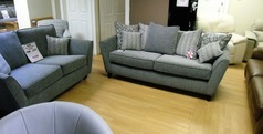 Vestra 3 seater and 2 seater grey £899 (SWANSEA SUPERSTORE) - Click for more details