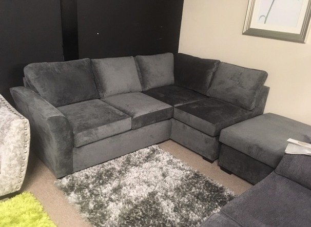 Iggy corner suite dark grey £699 (SWANSEA SUPERSTORE)