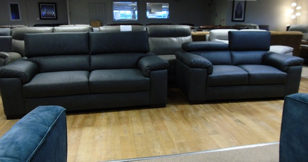 Venetto 3 seater and 2 seater  dark grey £2299 ( CARDIFF SUPERSTORE)
