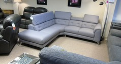 Toulon corner suite grey £1399 (CARDIFF SUPERSTORE) - Click for more details
