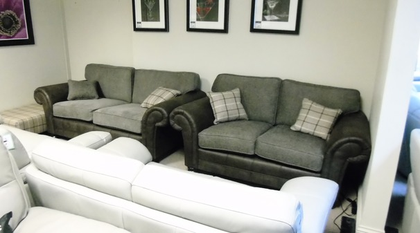 Darwin 3 seater and 2 seater dark taupe £899 (CARDIFF SUPERSTORE)