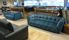 London 3 seater and 2 seater blue £1399 (CARDIFF SUPERSTORE) - Click for more details