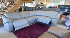 Lipari double electric recliner corner suite £2499 (CARDIFF SUPERSTORE) - Click for more details