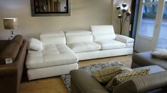 Miro chaise sofa white £2999 (SWANSEA SUPERSTORE) - Click for more details