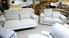 PALLINURO electric recliner 3 seater and 2 seater stone grey £3399 (CARDIFF SUPERSTORE) - Click for more details