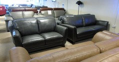 RENO  3 seater and 2 seater  dark grey £999 (CARDIFF SUPERSTORE) - Click for more details
