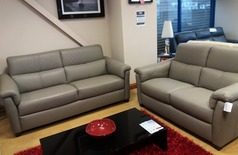 OSTIA 3 seater and 2 seater stone hide £2499 (NEWPORT STORE) - Click for more details