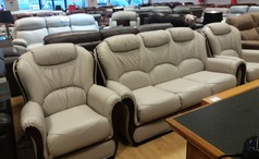 Gemma 3 seater and 2 chairs grey £1799 (NEWPORT STORE) - Click for more details