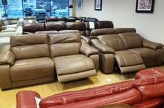 Lipari electric recliner 3 seater and 2 seater two tone sand £2999 (NEWPORT STORE) - Click for more details