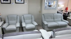 Jensen 3 seater and 2 chairs grey £1999 (CARDIFF SUPERSTORE) - Click for more details