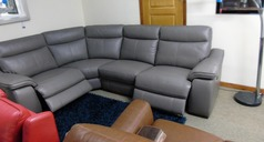 Marseille double electric recliner corner suite dark grey £2399 (SWANSEA SUPERSTORE) - Click for more details
