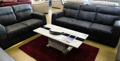 Faro 3 seater and 2 seater vintage grey £899 (CARDIFF SUPERSTORE) - Click for more details