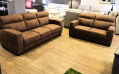Faro 3 seater and 2 seater vintage tan £899 (CARDIFF SUPERSTORE) - Click for more details