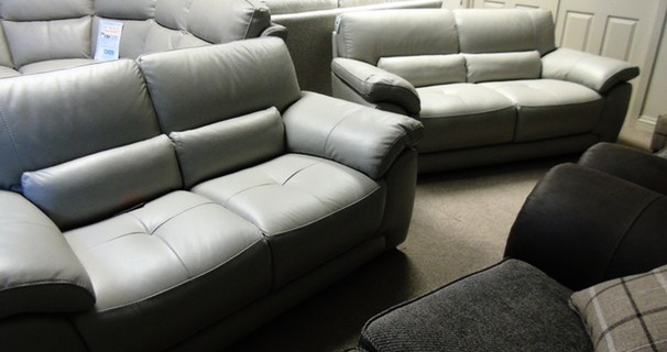 Baresi 3 seater and 2 seater feather grey £1299 (CARDIFF SUPERSTORE)