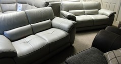 Baresi 3 seater and 2 seater feather grey £1299 (CARDIFF SUPERSTORE) - Click for more details