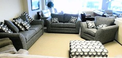 Loreen 3 seater, 2 seater and chair £999 grey (CARDIFF SUPERSTORE_ - Click for more details