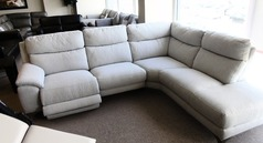 Narbonne electric recliner corner suite grey £1499 (CARDIFF SUPERSTORE) - Click for more details