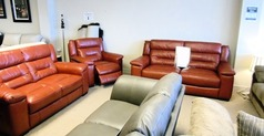 Somerset 3 seater, 2 seater and electric recliner chair red £1899 (CARDIFF SUPERSTORE) - Click for more details